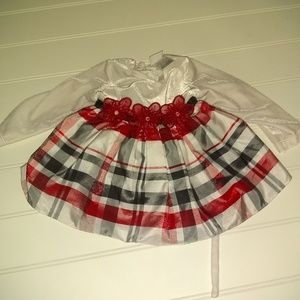 Youngland baby Christmas dress size 6/9 months